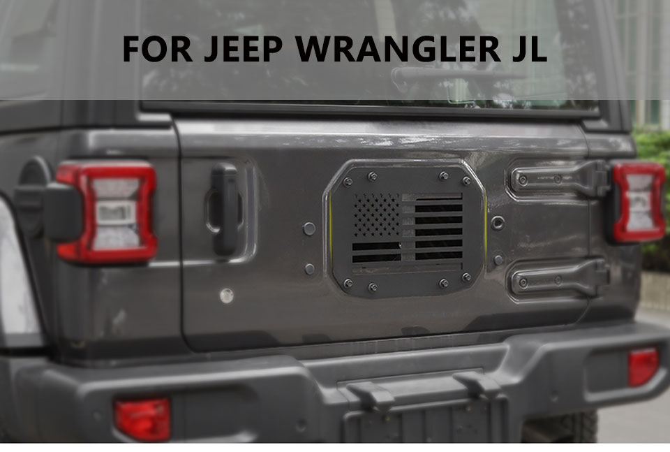 Styling Mouldings Car Tailgate Exhaust Air Outlet Intake Vent Decoration Cover for Jeep Wrangler JL 2018 Up Car Styling
