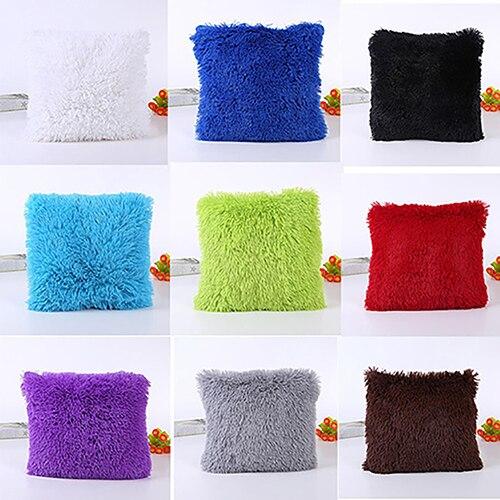 Мягкие плюшевые квадратный Наволочки диван талии Пледы Чехлы для подушек украшения дома