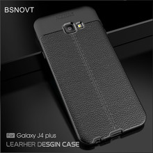 For Samsung Galaxy J4 Plus Case Soft Silicone TPU Leather Shockproof Anti-knock Phone Case For Samsung Galaxy J4 Prime Cover for samsung galaxy a7 2018 fitted shockproof back cover anti skid anti fingerprint silicone soft black tpu phone case