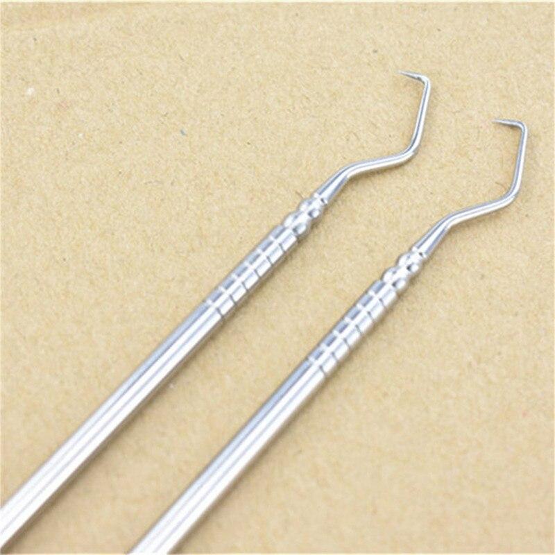 1 PC Double Ends Dentist Teeth Clean Hygiene Explorer Probe Hook Pick Stainless Steel Dental Tool Products