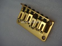 Guitar Bridge 6 Saddle Hardtail Top Load Gold