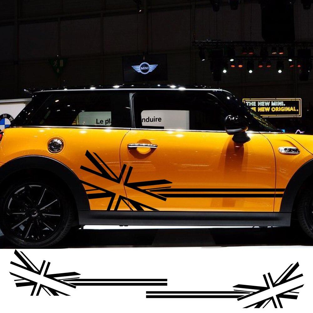 2 шт. автомобиль Стикеры флаг Стиль сбоку нашивки наклейки для Mini Cooper R56 R57 R58 R50 R52 R53 R59 R61 R60 F60 F55 F56 F54 аксессуары