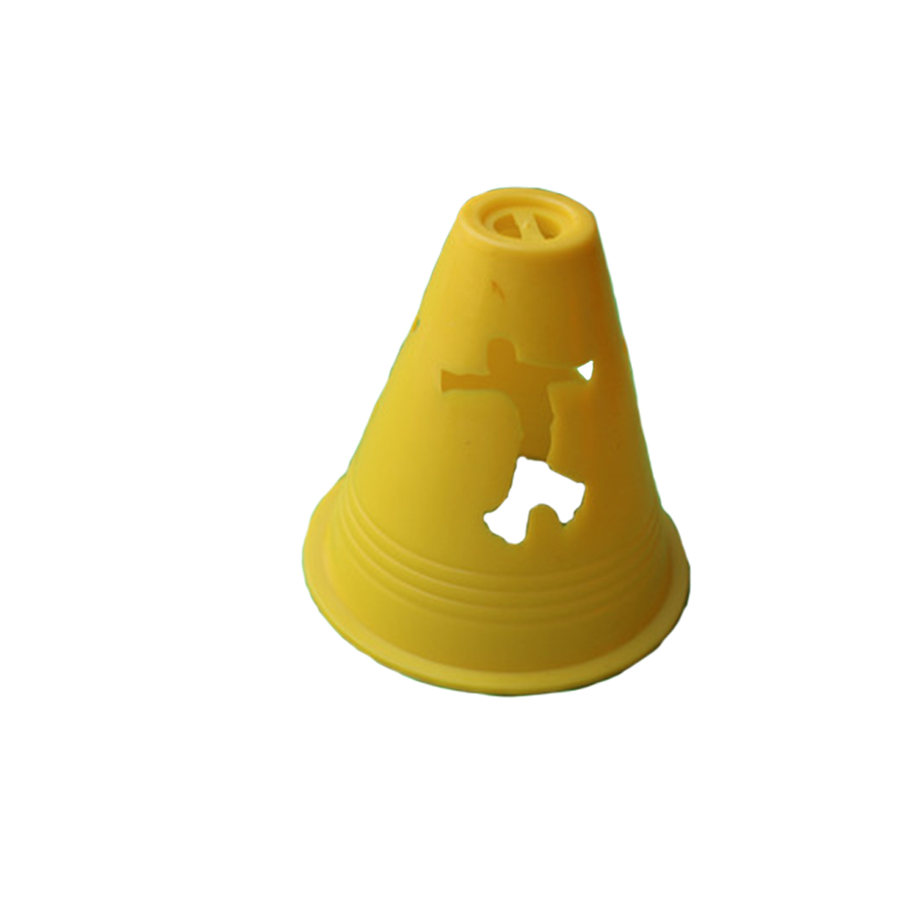 20pcs/pack Cone Practice Rugby Speed Marking Free Slalom Equipment Obstacle Agility Football Training Sport Skate Pile Cup