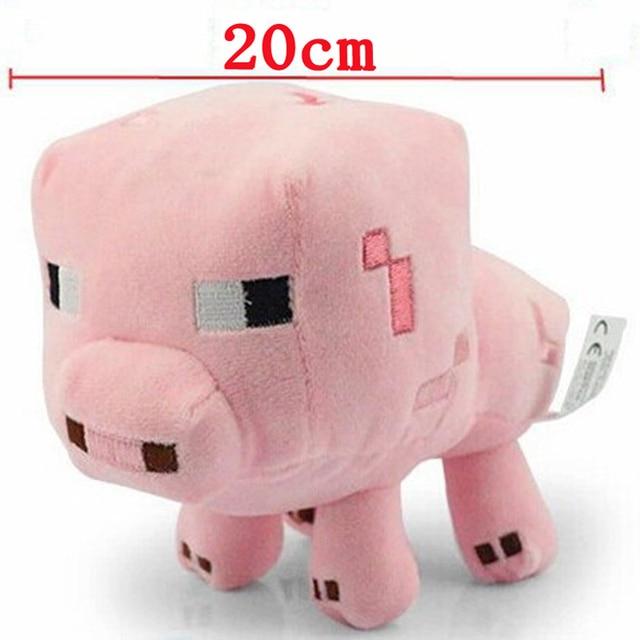 5pcs Lot 20cm Minecraft Pink Pig Plush Toy Minecraft Mc Baby Pig