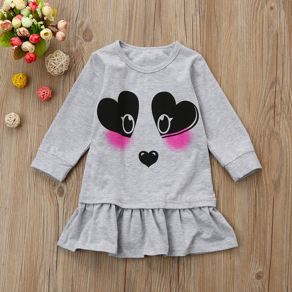2018 Fashion Cute girls winter dress Casual Long Sleeve Children Clothing  Baby Dresses Kids Clothes 1-4Y princess dress europe hot sale baby girls long sleeve velvet plaid top pant suit fashion childrens casual clothes princess clothing 16d1224