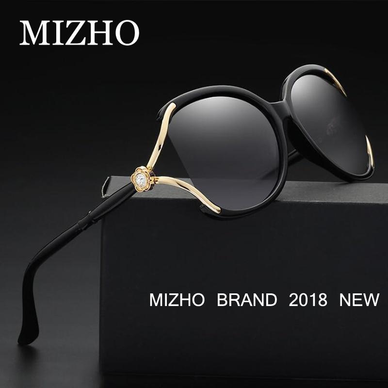 MIZHO Drive Quality Zonnebrillen Merk Designer Polaroid UV-bescherming Origineel Gafas De Sol mujer Diamond Pattern Colored