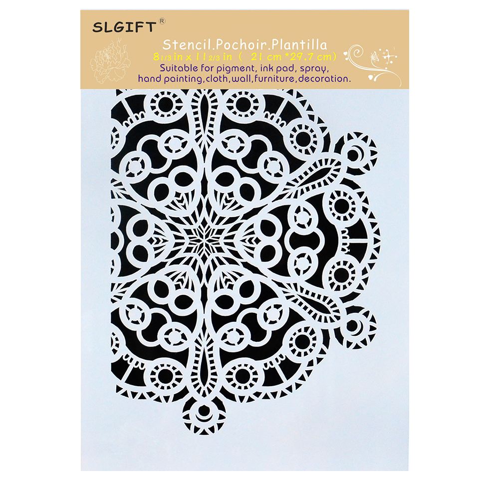A4 Stencils for Wall Painting DIY Scrapbooking Photo album Paper ...