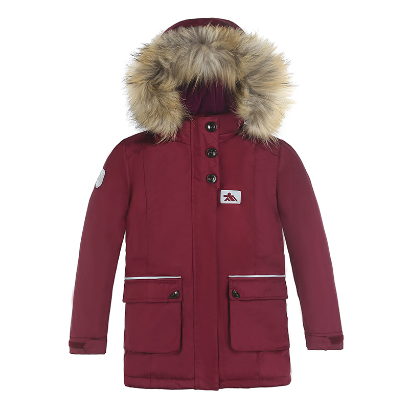 2018 New Collection Children Girls Winter Parka Cotton Padded Coat Jacket Thick Warm Long Coat Parkas Raccoon Fur European Size