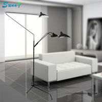 Nordic Designer Standing Lamp Modern Simple Home Deco Floor Lamp European Living Room Restaurant Retro Iron Claws Stand Light