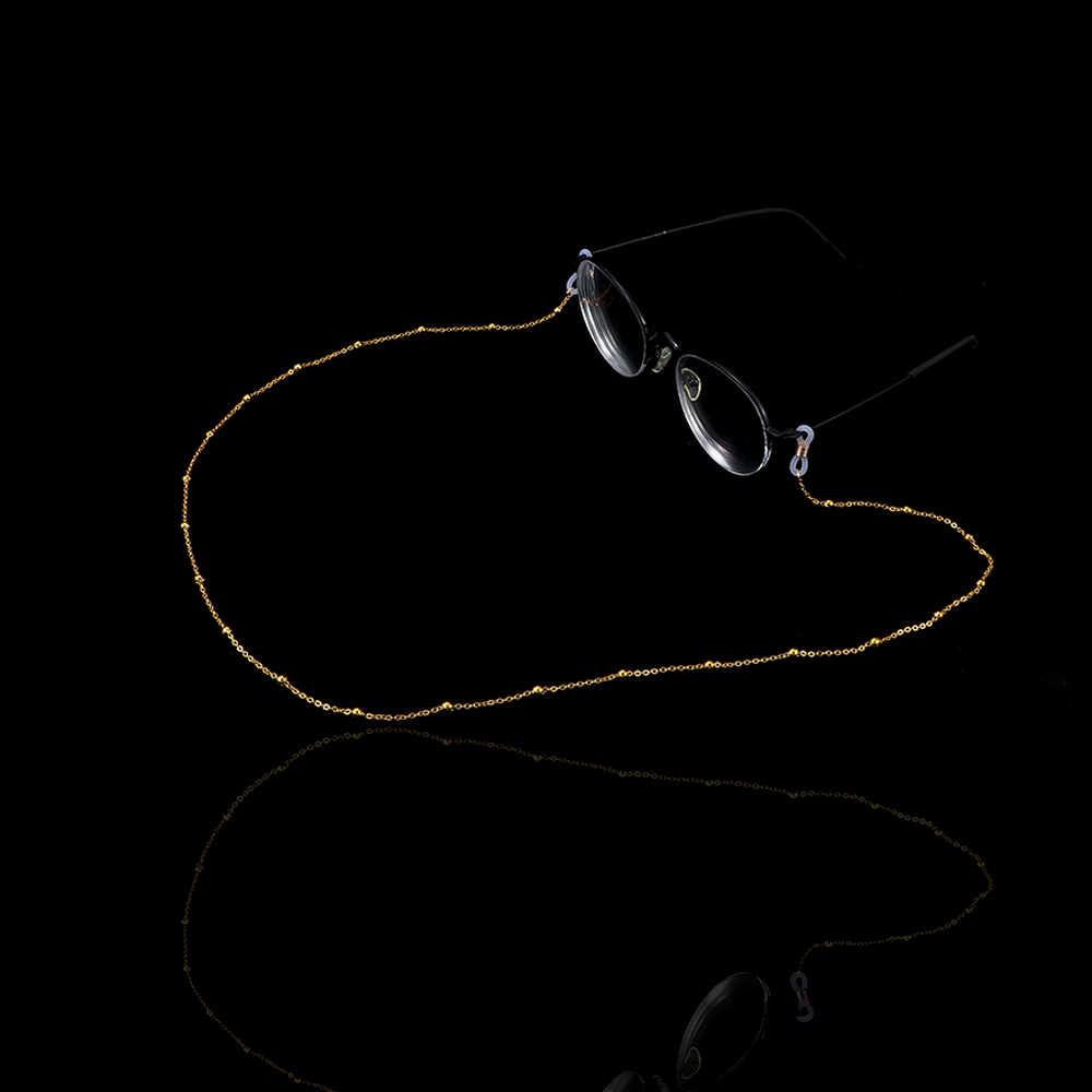 70cm Reading Glasses Chain for Women Metal Sunglasses Cords Beaded Eyeglass Lanyard Hold Straps Gold silver Eyewear Retainer