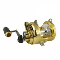 Okuma tg 50ii titus gold series drum wheel fishing round deep sea fishing reel boat