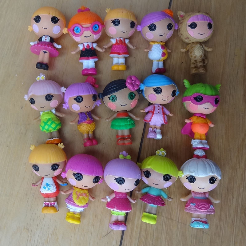 2018 Hot many kinds of lalaloopsy figures 3cm contain mermaid dolls Mini girls action kawaii toy with animal toy baby dolls