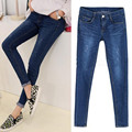 Large size jeans female trousers XL blue women's Stretch jeans 100 kg to wear Worn Foot pants fashion mom jeans