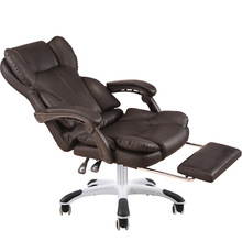 Reclining Thicken Office Chair Sumptuous Lifted Swivel Chair with Footrest Massage Chair Creative Stitching PU Computer Chair lunch break reclining office chair beauty salons lifted swivel chair thicken cushion multifunction computer chair five star feet