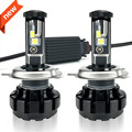2Pcs Super Bright H4 Led Bulb 100W 12000LM Headlights High Power Car LED Lights 6000K White 12V Hi Lo Beam Automobiles