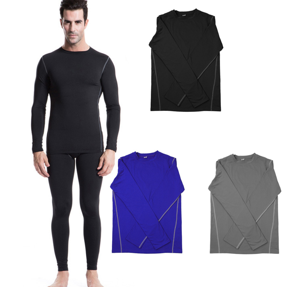 Men Sport Training shirts Design Long Sleeve Shirt With Velvet Quick Drying Tight Exercise Running Shirt For Male