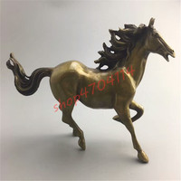 Pure copper, brass, galloping horses ornaments, exquisite crafts, decorations, collections