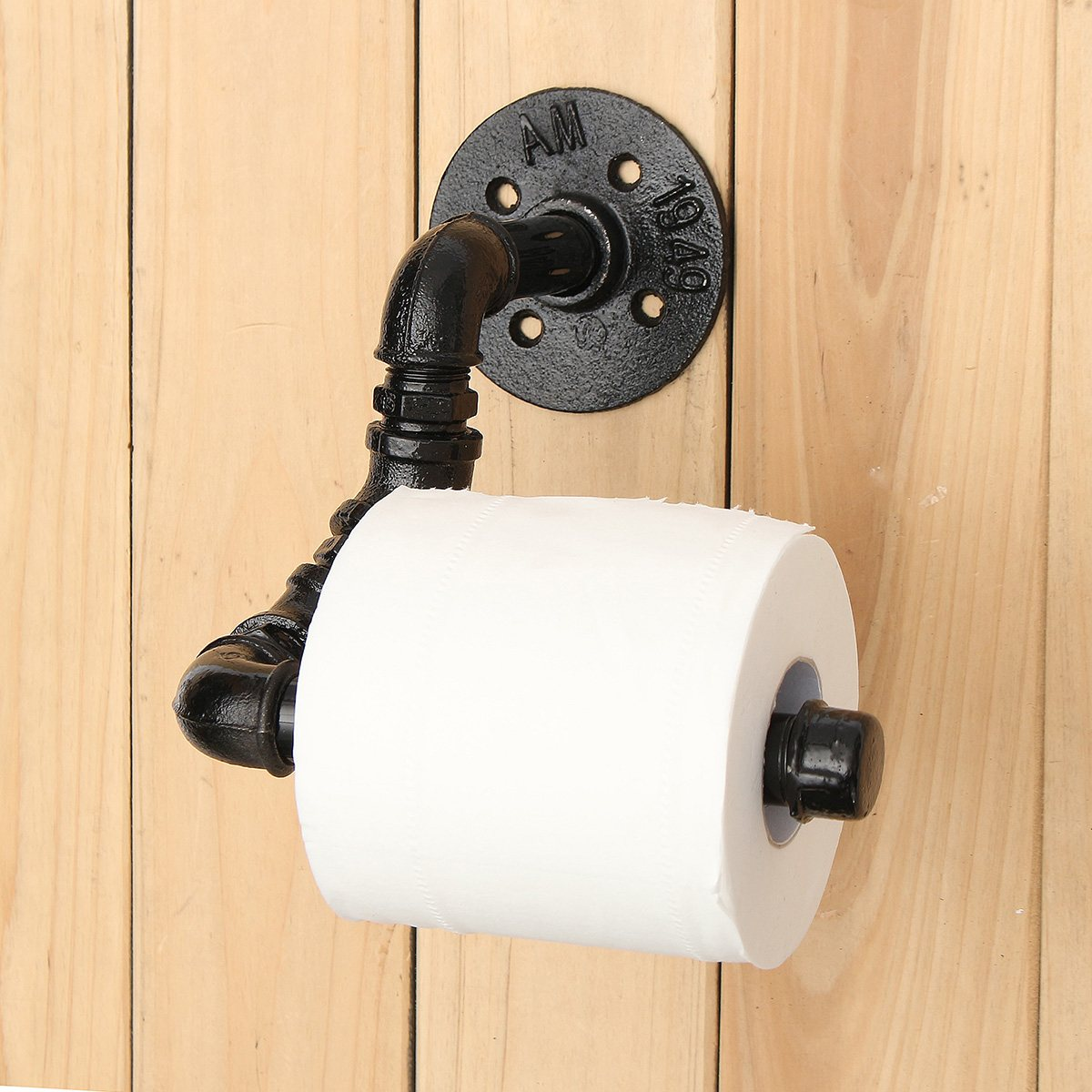 NEW Black Home Toilet Tissue Paper Storage Rack Rail Industrial ...
