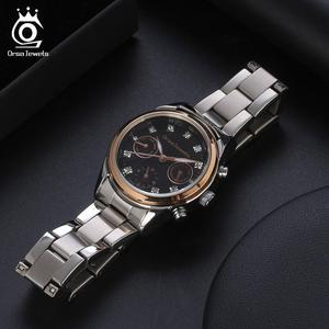 Image 3 - ORSA MÜCEVHER 316L Paslanmaz Çelik Kadın Izle Moda Bayan kuvars bilek saatleri Gümüş Renk Bilezik Su Geçirmez Izle OOW11