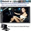 7 Дюймов 2 Автомобиля Гама MP5 MP4 видео Плеер радио HD стерео Bluetooth USB/FM/TF с камеры заднего вида управления рулевого колеса сенсорный экран