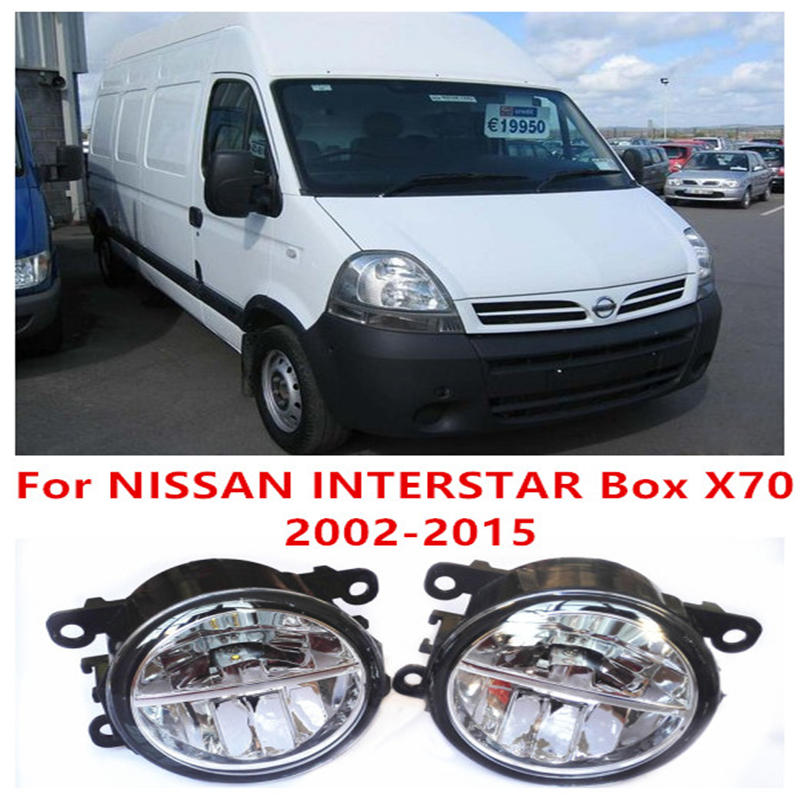 ФОТО For NISSAN INTERSTAR Box X70 Platform Chassis Bus 2002-2015 Fog Lamps LED Car Styling 10W Yellow White 2016 new lights