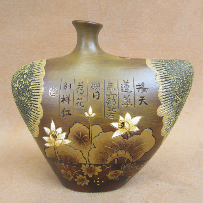Elegant Lotus Best Creative Gift Chinese Ceramic China Ornaments Crafts Artwork Den Table Decorations Unique Gift Surprise Gift