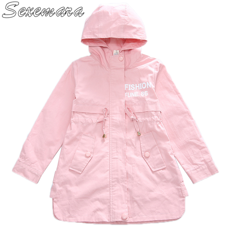 SexeMara 2018 new casual childrens jacket girls big childrens letters hooded windbreaker childrens wearSexeMara 2018 new casual childrens jacket girls big childrens letters hooded windbreaker childrens wear
