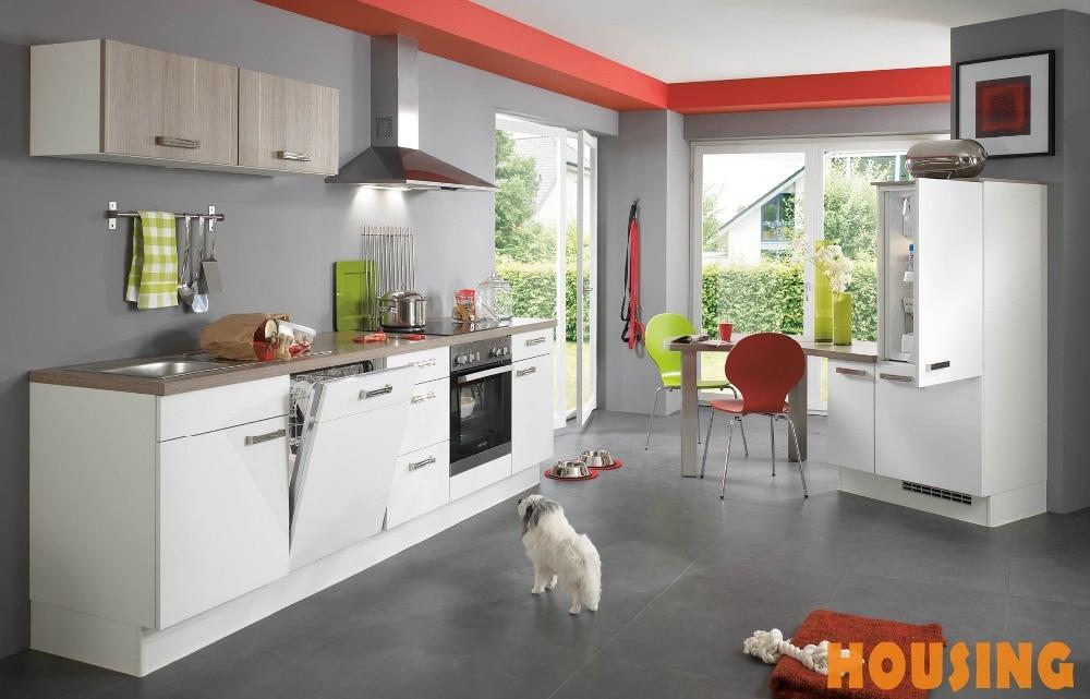 Moderno muebles blancos del gabinete de cocina MDF con Blum ...