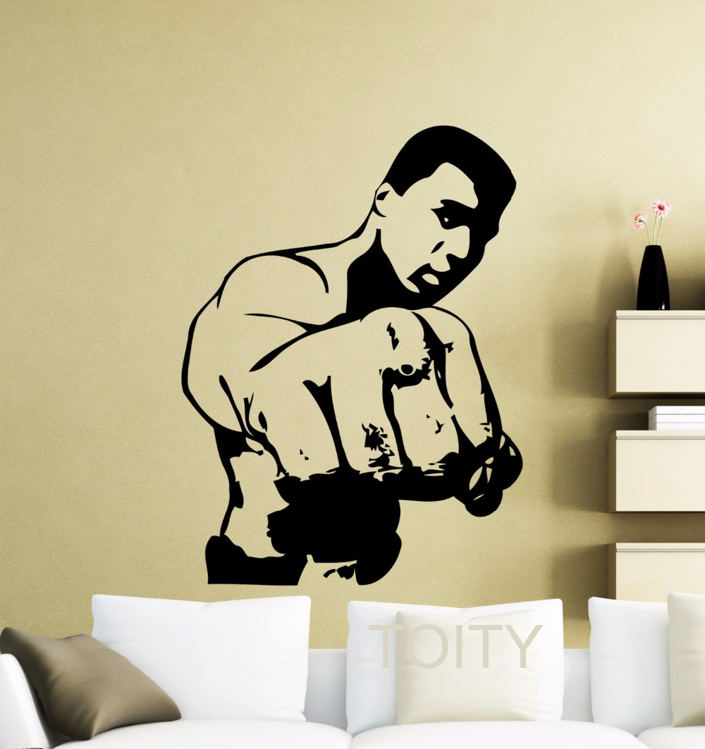 compare prices on dorm room decorating online shopping buy low muhammad ali wall sticker cassius clay boxer boxing sports vinyl decal retro home interior decor club