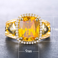 Diamond rings Emerald ring gold Zircon multi-color treasure Rose gold garnet ring topaz amethyst crystal natural stone B1122 цена в Москве и Питере