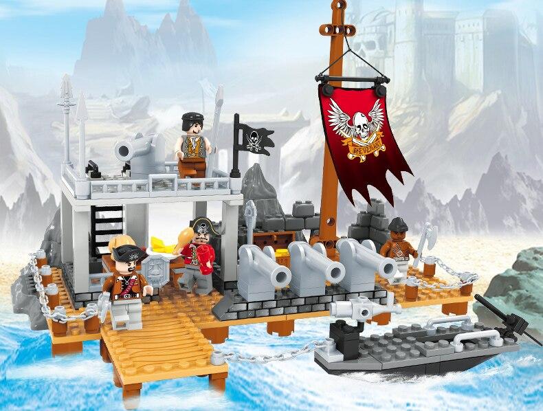 238pcs Pirates and ships Building Blocks Enlighten Child educational toys gift for child заклепочник santool 238 мм 032202 238