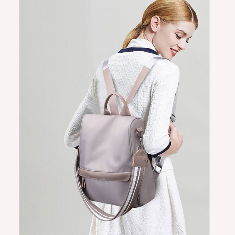 Spring And Summer New Anti-theft Backpack Korean Fashion Shoulder Bag Nylon Cloth Student Bag Mochila Feminina S202 #6