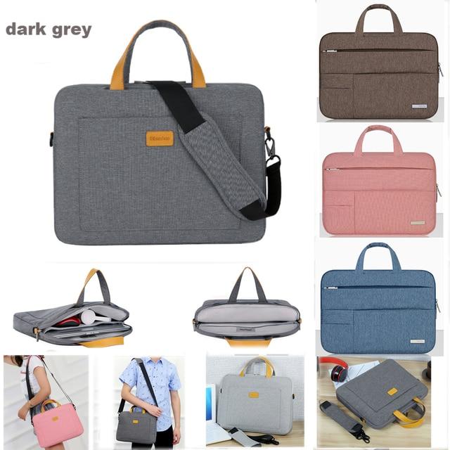 13 14 15.6 Man Felt Notebook Laptop Sleeve Shoulder Handbag Bag Case For Xiaomi Acer Dell HP Asus Lenovo Macbook Pro Air
