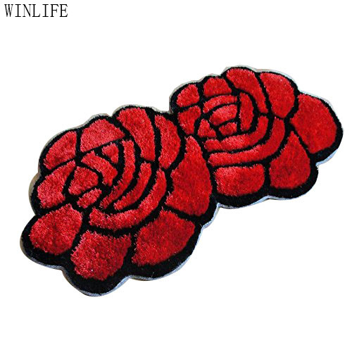 WINLIFE Unique 3d tapis Designer 3d tapis maison décorative Rose tapis rouge