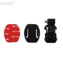 Buckle Vertical J Hook Surface Mount Adapter Sticker Flat Adhesive Mounts for GoPro Hero 3+ 4 5 6 SJCAM SJ4000 Camera
