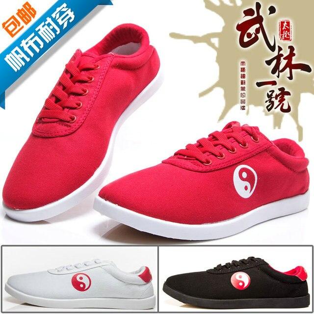 Боевые искусства Тай-Чи и Тайцзи обувь Dichotomanthes Нижние холст обувь, хлопок ткань размер ботинок 34-45 Примечание размер