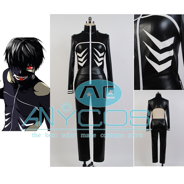 Tokyo Ghoul Ken Kaneki Uniform Jumpsuit Outfit For Men Cosplay