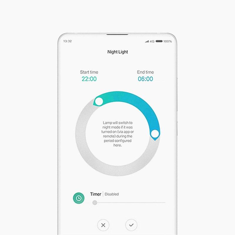 Yeelight conduziu a lâmpada de luz teto 450 quarto casa controle remoto inteligente bluetooth wifi com o assistente do google alexa mijia app xiaomi - 6