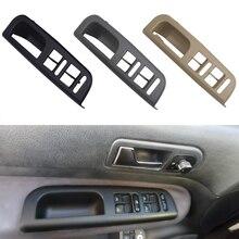 Авто межкомнатных дверей Панель переключатель окна Управление Панель ободок Накладка для VW Passat B5 Jetta Бора Гольф Mk4 Volkswagen 3 цвета