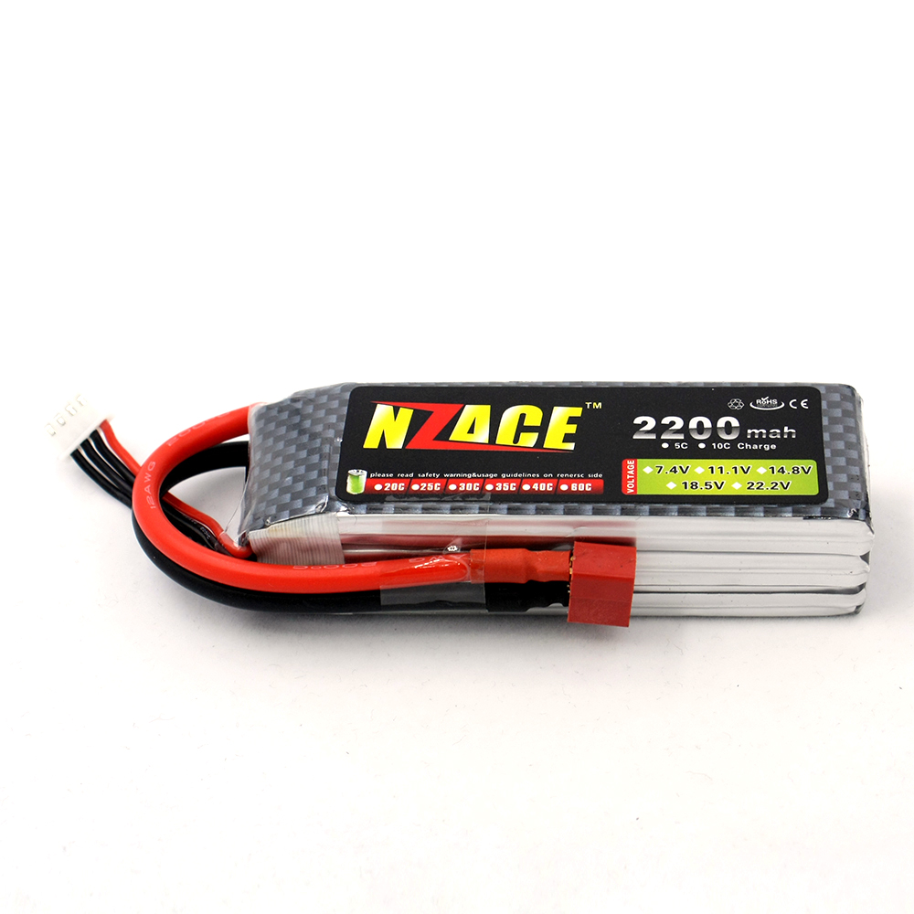 NZACE Lithium Li-polymer Lipo Battery 3S 11.1V 2200Mah 40C XT60 Plug for RC Helicopter Qudcopter Car Airplane Bateria Lipo 381725 polymer lithium battery 3 7v cel 110mp3 battery bluetooth battery lithium battery