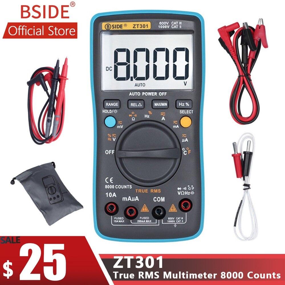 BSIDE ZT301 ZT302 Digital Multimeter 8000 9999 Counts True RMS Multifunction AC/DC Voltage Temperature Capacitance Tester DMMBSIDE ZT301 ZT302 Digital Multimeter 8000 9999 Counts True RMS Multifunction AC/DC Voltage Temperature Capacitance Tester DMM