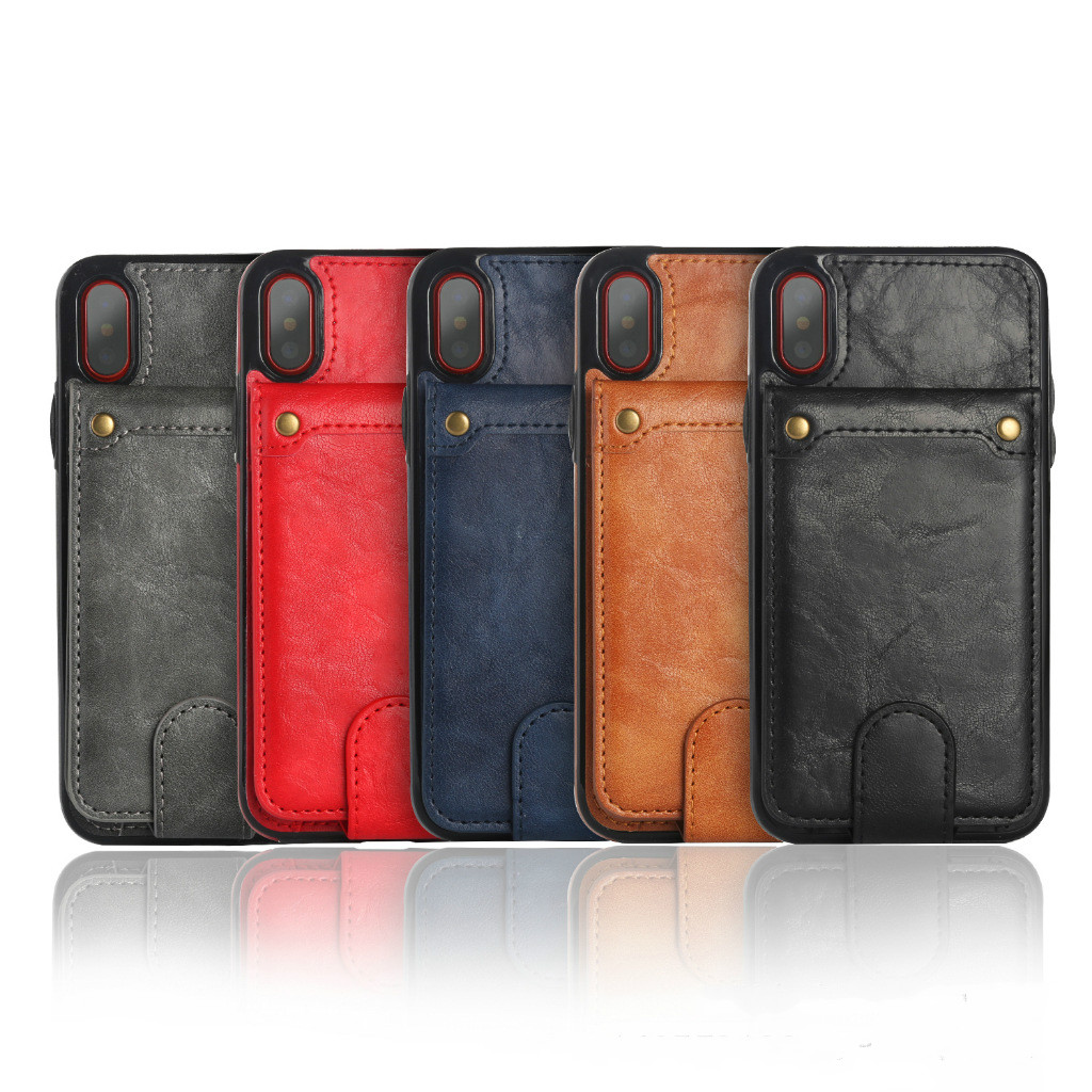 30PCS Retro Leather Case For Samsung note8 Case Soft leather TPU Phone Cases For iPhone 8