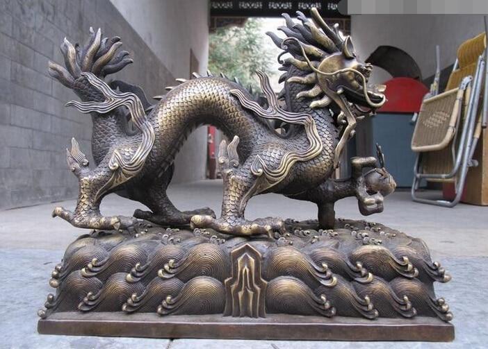 wholesale factory China Royal Pure BRASS Foo Dog Dragon beast Authoritative decorative statuewholesale factory China Royal Pure BRASS Foo Dog Dragon beast Authoritative decorative statue