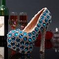 Sapatos de casamento bombas de moda strass sapatos de salto alto sapatos de plataforma de salto alto Handmade tamanho 31 - 43