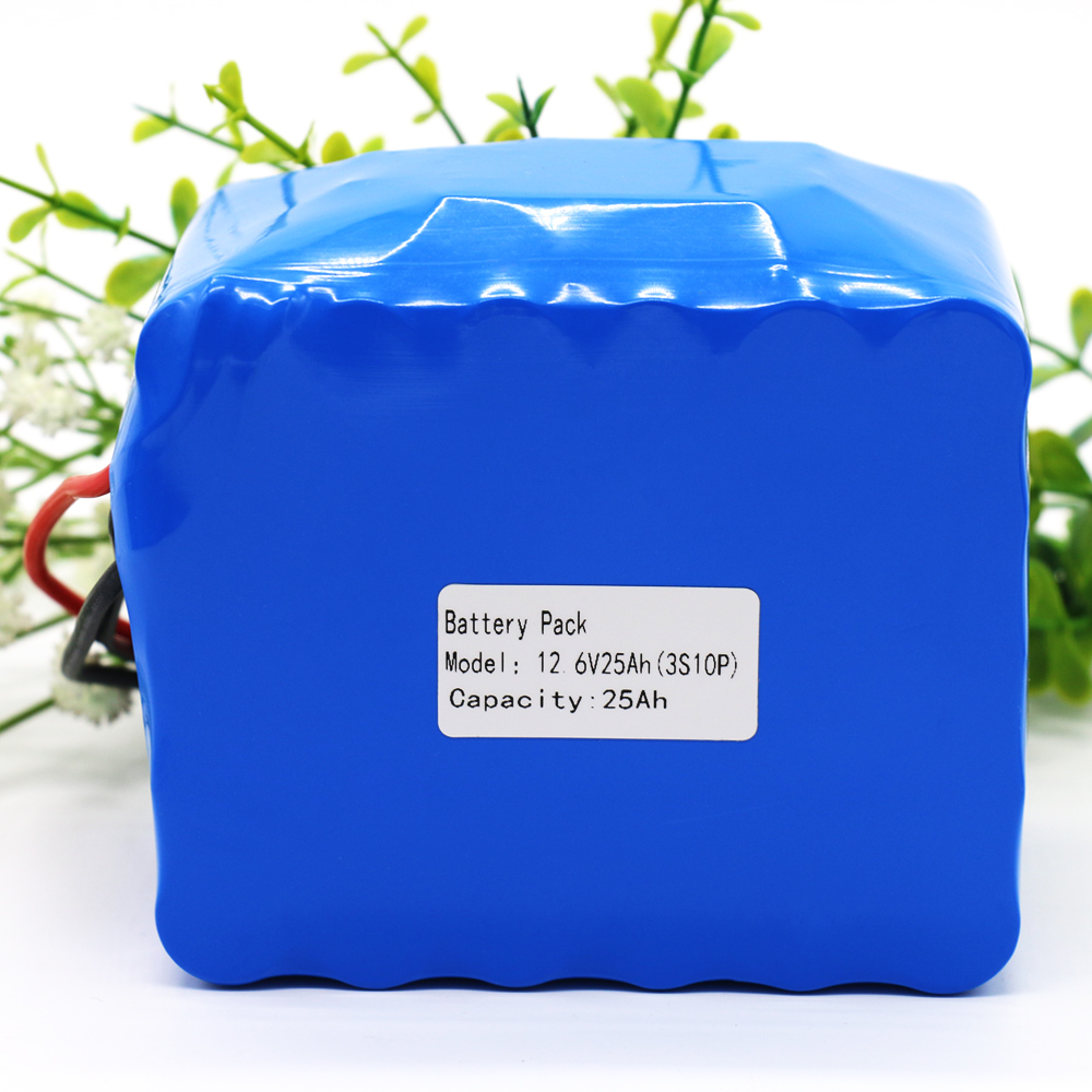 12V 25Ah High Power 11.1V12.6V 18650 Lithium Battery Rechargeable Battery Pack with 45A BMS for Inverter / Sightseeing Car Etc