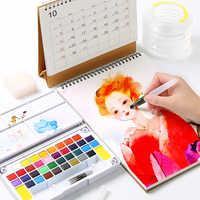 Bgln solide aquarelle peinture étudiant peinture adulte peinture ensemble aquarelle peinture débutant poudre peinture Art fournitures