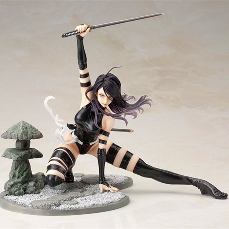 X-Men Bishoujo Psylocke Ninja Outfit PVC Figure Toy Gift New No Box