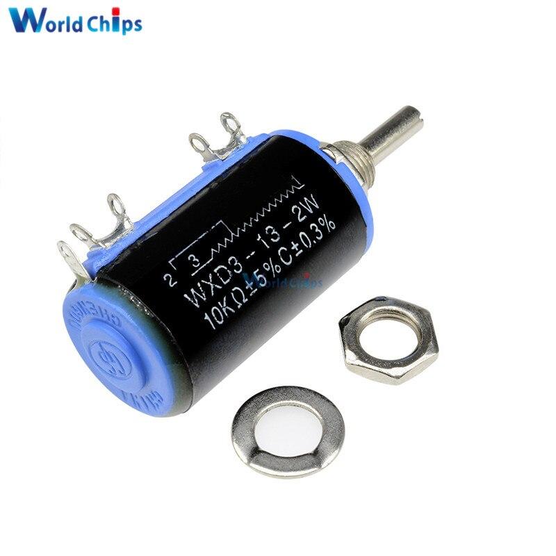 NEW WXD3-13-2W 680 ohm Rotary Multi-turn Wirewound Precision Potentiometer