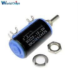 2 uds. WXD3-13-2W 10K ohm WXD3-13 2W rotativo lateral multivuelta rotativa potenciómetro bobinado