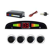 Светодиодный радар заднего хода, полумесяц зуммер, 4 зонда, Автомобильный светодиодный экран, система обнаружения слепых пятен, Парктроник, датчики обнаружения